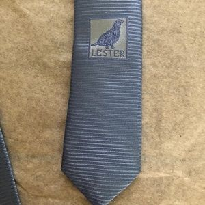LESTER MADE IN ITALY 100% SILK TIE PASTEL BLUE